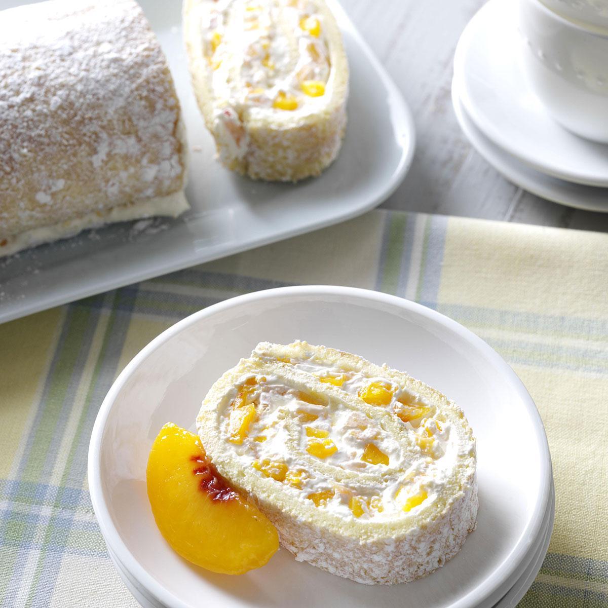 Peaches & Cream Jelly Roll Recipe