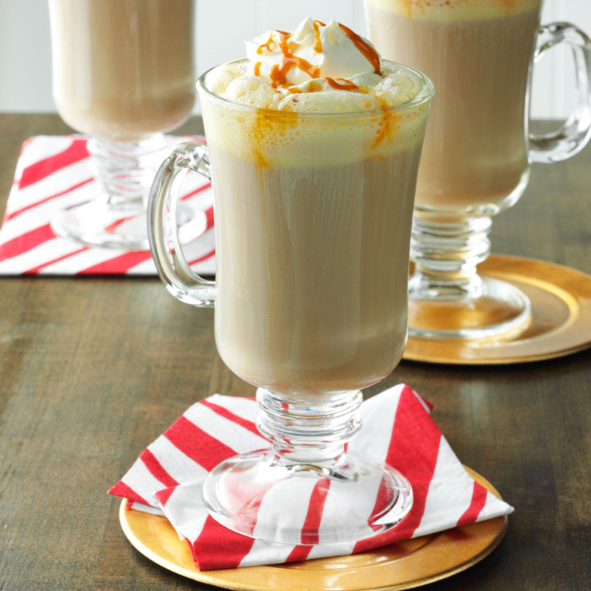 caramel chai tea latte recipe taste of home. Black Bedroom Furniture Sets. Home Design Ideas