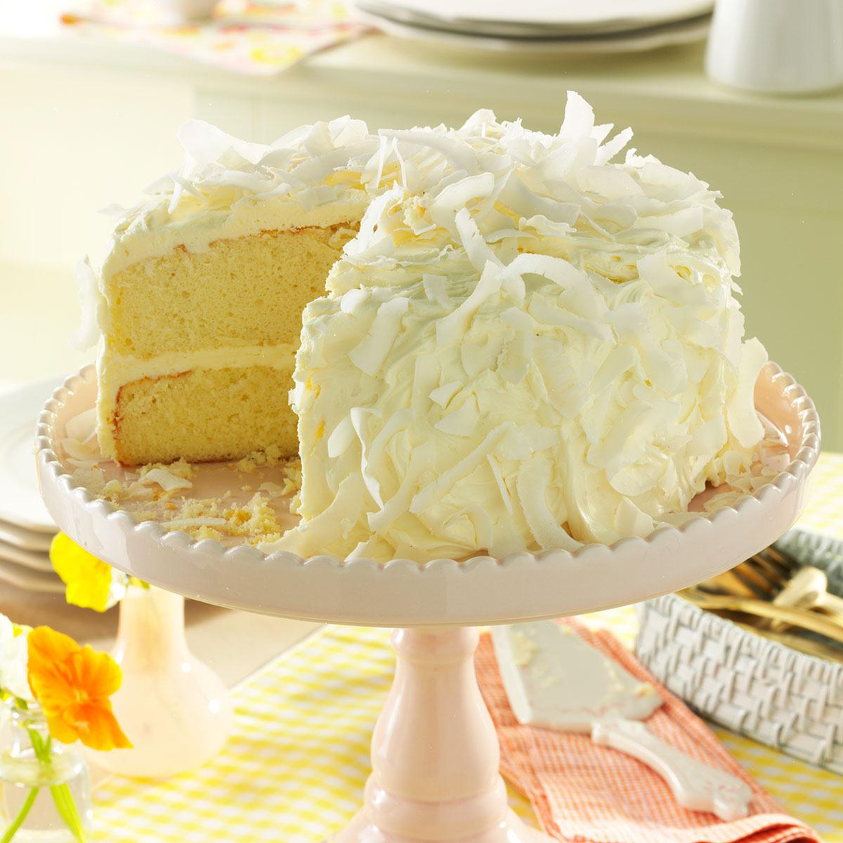 Coconut Cake With White Chocolate Frosting Recipe Taste