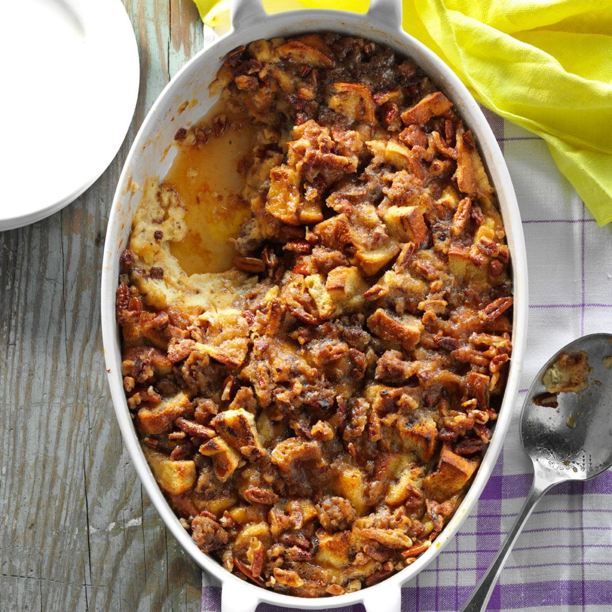 Raisin Bread & Sausage Morning Casserole Recipe