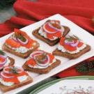 Salmon mousse canapes recipe taste of home for Smoked salmon mousse canape
