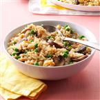 Mushroom & Peas Rice Pilaf