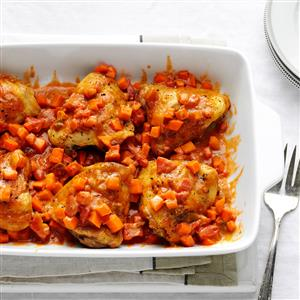 African Chicken & Sweet Potatoes Recipe