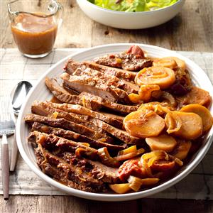 All-Day Brisket with Potatoes Recipe