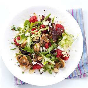 All-Spiced Up Raspberry and Mushroom Salad Recipe