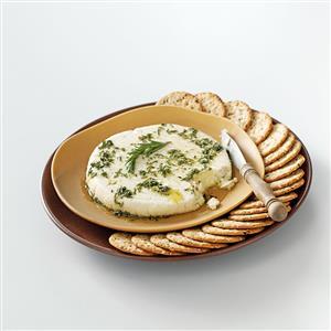 "Almond ""Feta"" with Herb Oil Recipe"