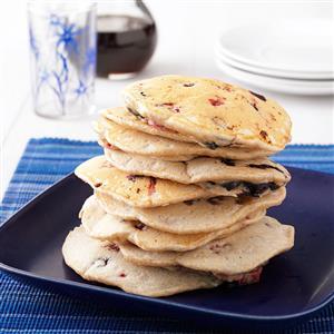 Almond Berry Pancakes Recipe