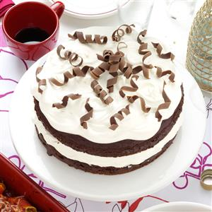 Almond Chocolate Torte with Chocolate Curls Recipe