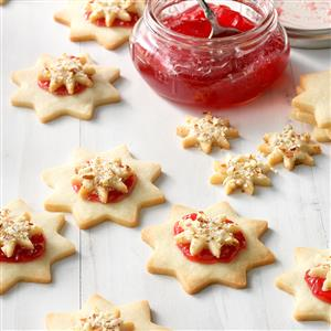 Almond Raspberry Stars Recipe