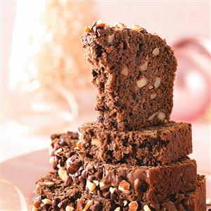 Almond-Studded Chocolate Loaf Recipe