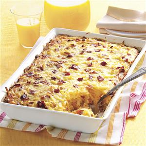 Amish breakfast casserole recipe taste of home amish breakfast casserole recipe forumfinder Image collections