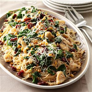 Angel Hair with Chicken & Cherries Recipe