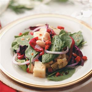 Antipasto Spinach Salad Recipe