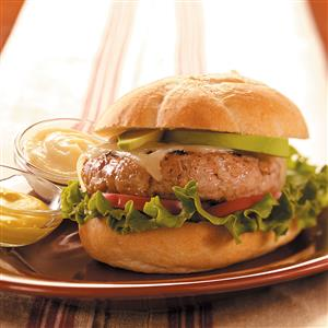 Apple 'n' Pork Burgers Recipe