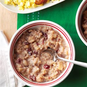 Apple-Cranberry Breakfast Risotto Recipe