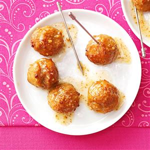 Apple-Mustard Glazed Meatballs Recipe