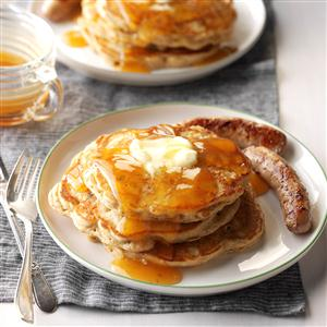 Apple Pancakes with Cider Syrup Recipe
