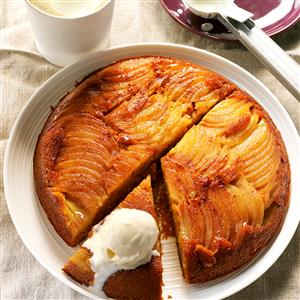 Apple-Pumpkin Upside-Down Cake Recipe