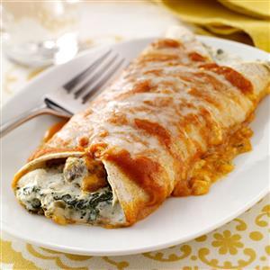 Artichoke & Spinach Enchiladas Recipe