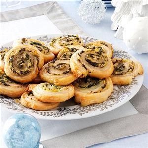 Artichoke-Spinach Pinwheels Recipe