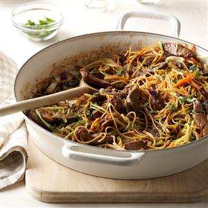 Asian Beef & Noodles Recipe