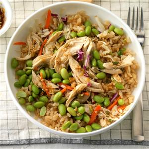Asian chicken rice bowl recipe taste of home asian chicken rice bowl recipe forumfinder Choice Image