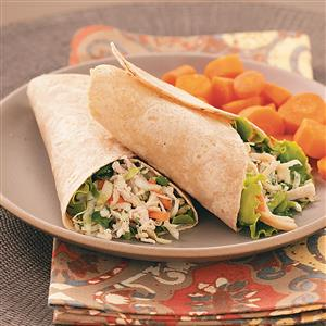 Asian Chicken Salad Wraps Recipe