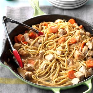 Asian Pork Linguine Recipe