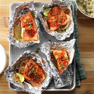 Asian-Style Salmon Packets Recipe