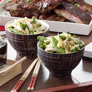 Asian Sugar Snap Peas and Cabbage Recipe