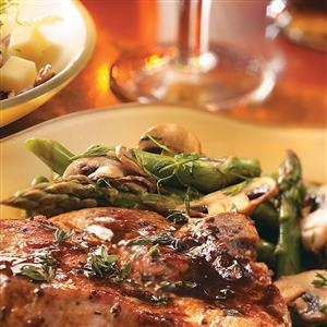 Asparagus, Mushrooms and Peas Recipe