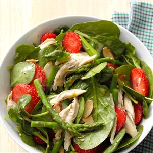 Asparagus Spinach Salad with Chicken Recipe