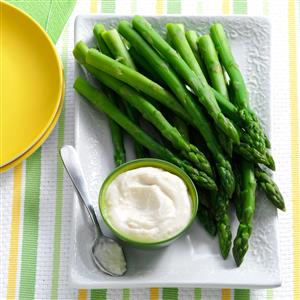 Asparagus with Horseradish Dip Recipe