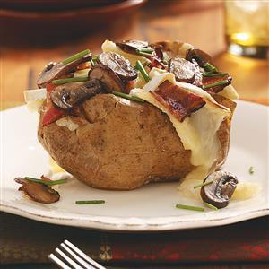 Bacon, Cremini & Brie Potatoes for Two Recipe