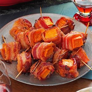 Bacon-Wrapped Sweet Potato Bites Recipe