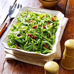 Bacon and Garlic Green Beans Recipe