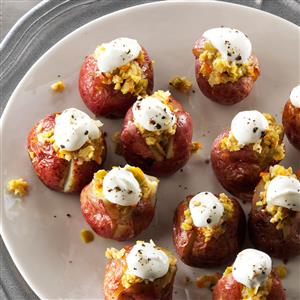 Baked Baby Potatoes with Olive Pesto Recipe