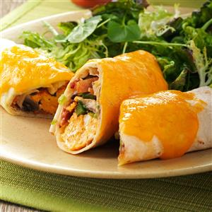 Baked Breakfast Burritos Recipe
