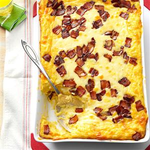Baked Two-Cheese & Bacon Grits Recipe