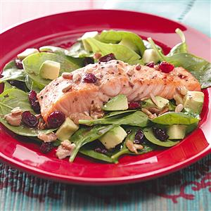 Balsamic-Salmon Spinach Salad Recipe