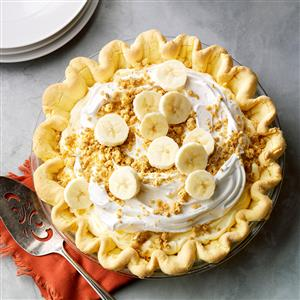 Banana Cream Pie with Cake Mix Crust Recipe