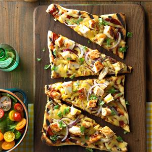 Barbecued Chicken Pizzas Recipe
