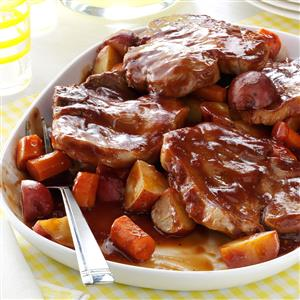 Barbecued Pork Chop Supper Recipe