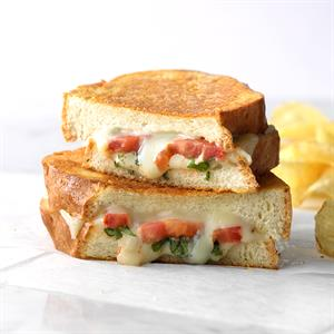 Basil-Tomato Grilled Cheese Recipe
