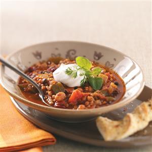 Bean & Bulgur Chili Recipe