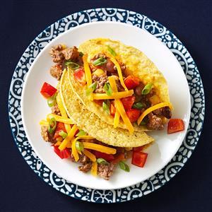Beef & Bean Tacos Recipe