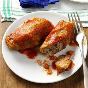 Beef & Rice Stuffed Cabbage Rolls Recipe