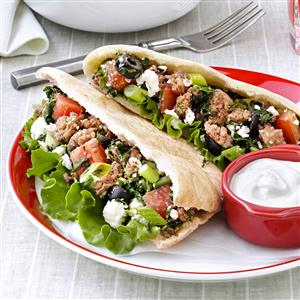 Beef & Spinach Gyros Recipe