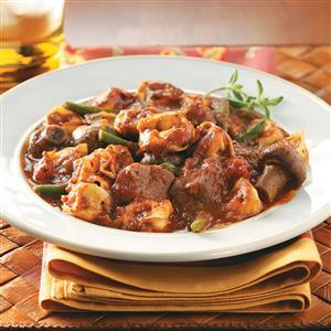 Beef & Tortellini Marinara with Green Beans Recipe