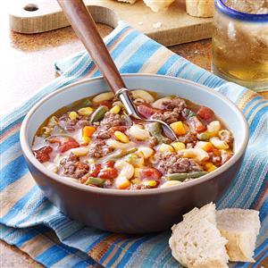 Beef Macaroni Soup Recipe